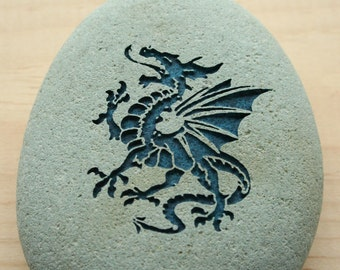 DRAGON Home Decor paperweight collections - engraved stone by sjEngraving