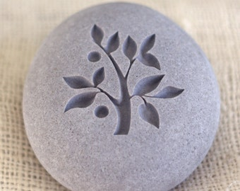 TREE OF LIFE - Wedding oathing stone - Double sided engraved - Wedding gift - Home decor