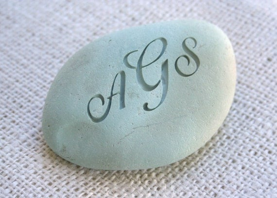 The Oathing Stone - for wedding, commitment ceremony or anniversary - double sided engraved wedding stone