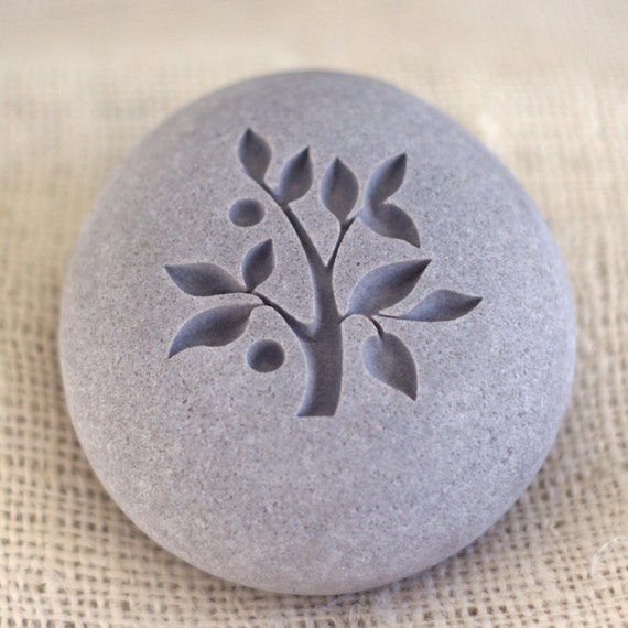 TREE OF LIFE - Wedding oathing stone - Double sided engraved - Wedding gift - Home decor