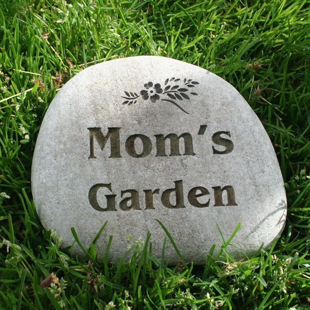 Custom engraved garden stone by sjengraving for Personalized garden stone