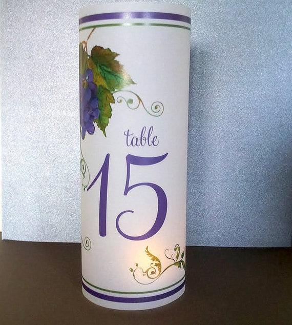 "Vineyard Luminary Candle Surrounds - 8.5"" - Vellum Votive for Wedding Reception - Personalized Design"