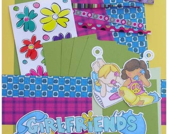 Scrapbook Pages Kit Girlfriends - KitsNbitScraps