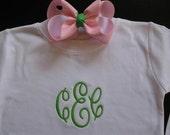 The Caroline Tee   - Long Sleeve Version - Classy Monogrammed Personalized Tee or Baby Bodysuit