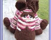 INSTANT DOWNLOAD, Digital File, Zebadiah Zee Zebra a pdf knitted pattern for a baby zebra