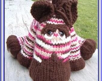 Zebadiah Zee Zebra, a pdf knitted pattern for a baby zebra INSTANT DOWNLOAD, Digital File,