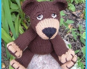 Big Bad Beauregarde Bear a knitted pdf pattern INSTANT DOWNLOAD