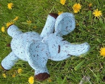 Elwood E. Elephant a baby elephant knitted pdf pattern, INSTANT DOWNLOAD, Digital File,