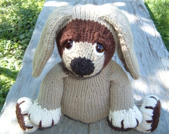 Dudley, a knitted pdf pattern for a darling puppy, INSTANT DOWNLOAD, Digital File,