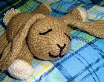 Billy Bliss Bunny Rabbit PDF Knitting Pattern INSTANT DOWNLOAD, Digital File,