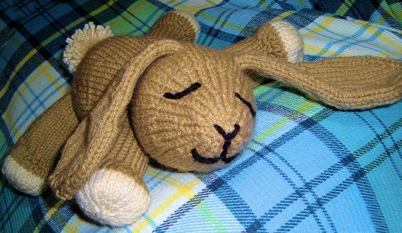 INSTANT DOWNLOAD, Digital File, Billy Bliss Bunny Rabbit PDF Knitting Pattern