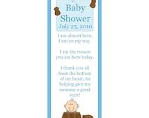 24 personalized baby shower keepsake bookmarks little peanut