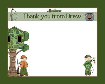 20 Personalized Deer Hunting Thank You Cards