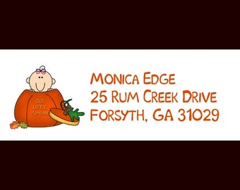 30 Little Pumpkin Return Address Labels