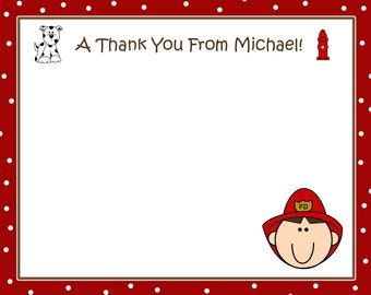 20 Fireman Thank You Cards