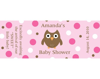 120 Personalized Baby Shower Mini Candy Bar Labels