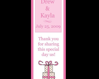 50 Personalized Wedding Day Bookmarks - YOUR WEDDING COLORS