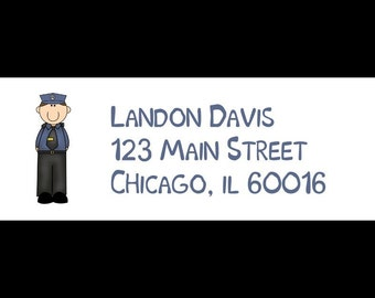 30 Return Address Labels - POLICE