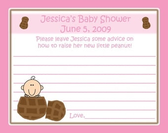 24 Baby Shower Advice Cards - Personalized  LITTLE PEANUT