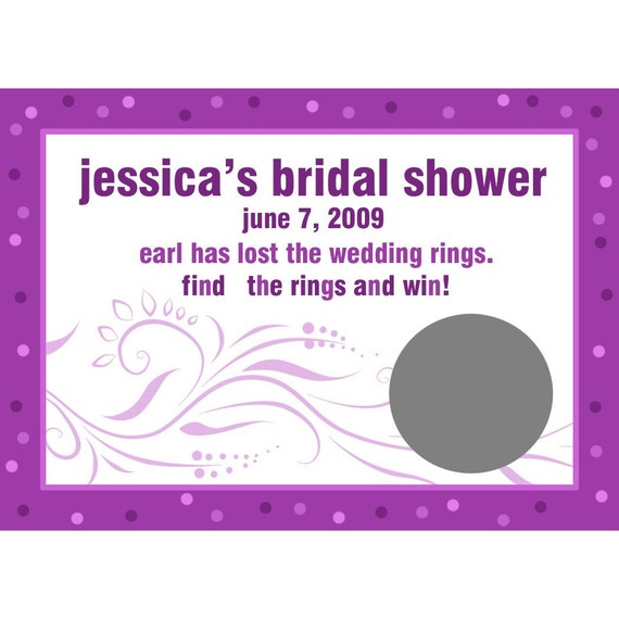 24 Personalized Scratch Off Game Cards - Modern Bride