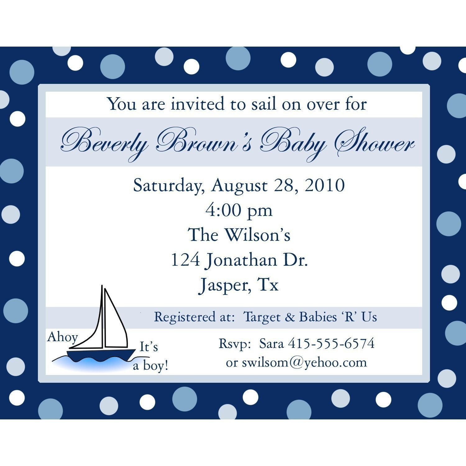 20 personalized baby shower invitations ahoy its a boy