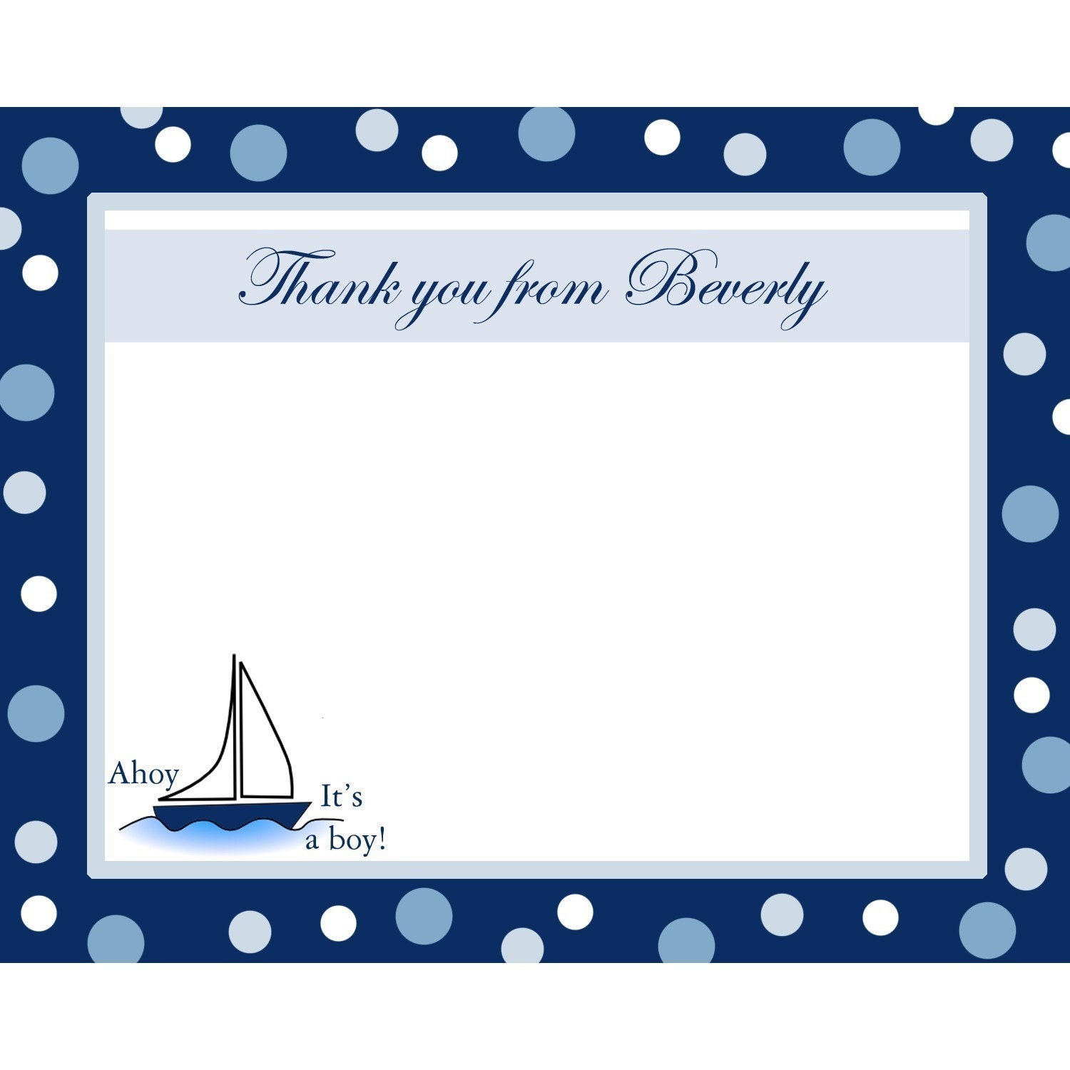 20 Personalized Baby Shower Thank You Cards AHOY ITS A BOY