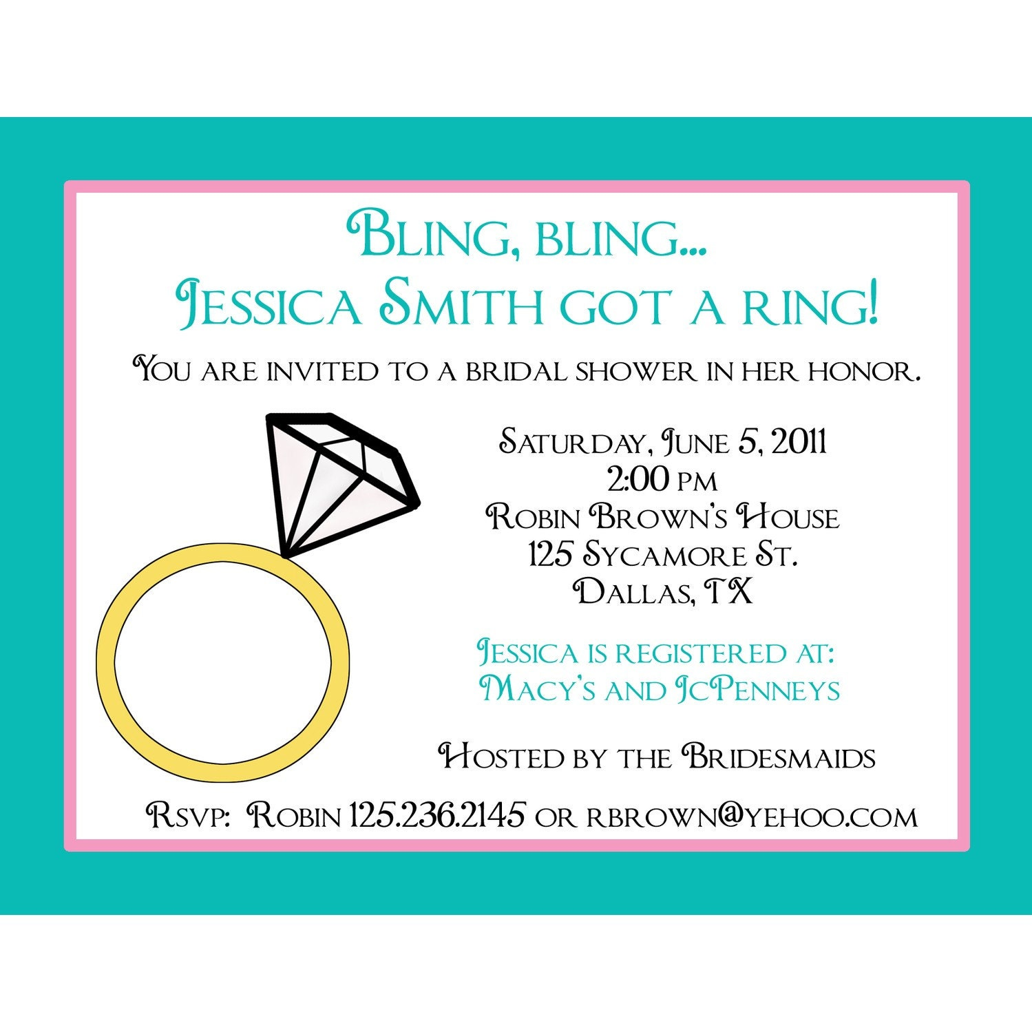 personal bridal shower invitations wording - 28 images - wedding ...
