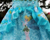 Tinkerbell & Vidia Custom Dress Sugar3 Boutique 2 thru girls 10