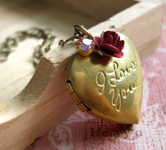 NEW I Love You Locket Necklace