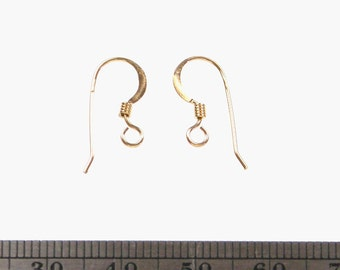 2 Pairs EARWIRES with Coil 14K20 Gold Filled
