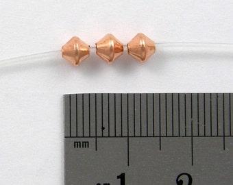 100 - 4.8mm BICONE Bead Bright COPPER