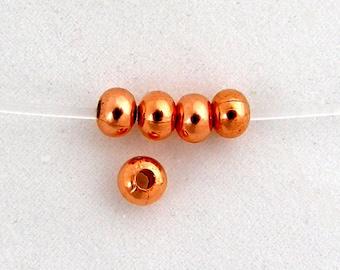100 - 5mm Rondelle Bead Bright COPPER
