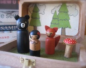 A Little Forest Story Wooden Play Set and Carrying Case