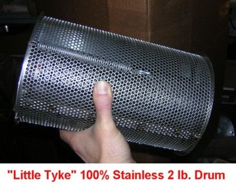 2 lb. 100% STAINLESS STEEL Coffee Beans / Peanut / Chile / Cacao Roaster Drum for BBQ Grills