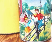 Vintage Farm Children Print Thermos Holtemp