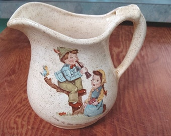 Vintage Country Kids Love Is Pitcher