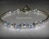 Bridesmaid Bracelet: Wedding Jewelry, Wedding Bracelet, Bridesmaid Jewelry, Bridesmaid Wedding Jewelry, Something Blue, Bridal Party Gift