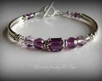 Amethyst Bridesmaid Bracelet: Wedding Jewelry, Bridesmaid Jewelry, February Birthstone Jewelry, Jewelry For Bride, Wedding Jewelry, Bride