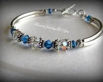 Gift Set of SIX: Bridesmaid Bracelet, Bridal Party Jewelry, Bridesmaid gift, Wedding Party, Bridesmaid Jewelry, Wedding Jewelry, bridesmaid