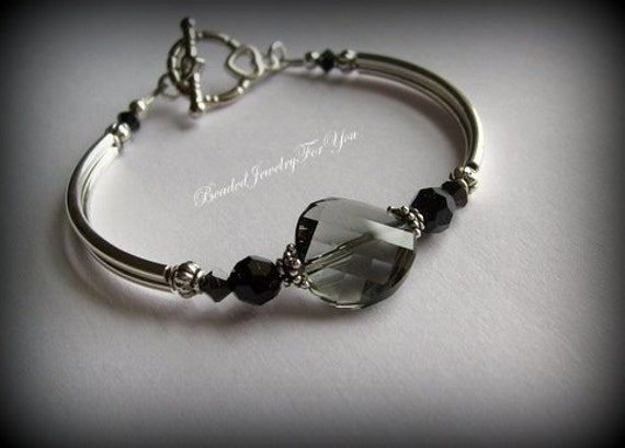 Diamond Necklace Wedding Gift : ... , Black Jewelry, Black Diamond Jewelry, Wedding Party,Bridesmaid Gift