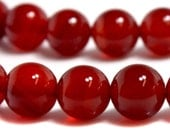 Red Carnelian Round 10mm Stong Beads b6