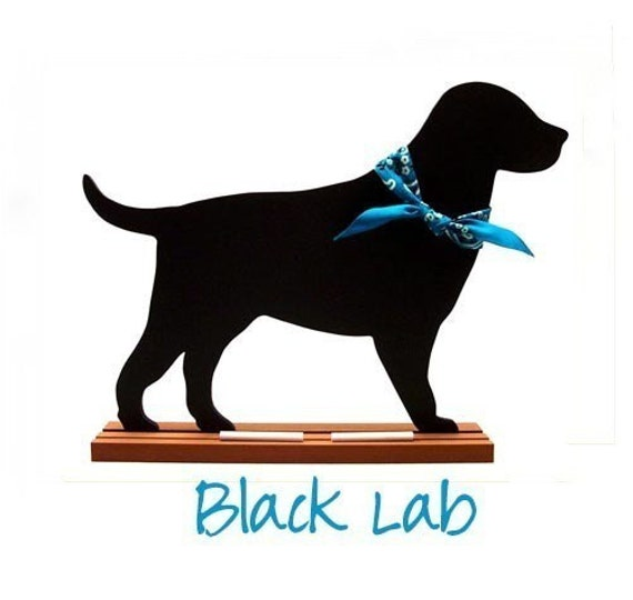 LABRADOR Dog Breed Shaped Chalkboard - Now available as a black lab, chocolate lab or yellow lab - FUN, UNIQUE - A Pet Lover Favorite