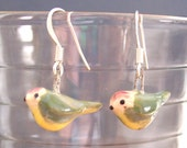 Love Bird Ceramic Earrings