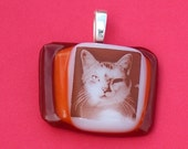 Custom-Your Picture Handmade Fused Glass Pendant