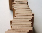 1.5'' Flat Wooden Squares - Set of 25 - Great for PENDANTS and MAGNETS