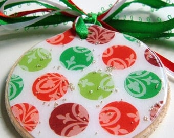 2 3/8'' Blank Wood Circle Ornaments / Gift Tags - six pieces