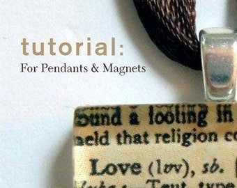 Glass Pendants and Magnets Tutorial