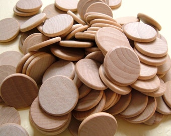 1 1/2'' Flat Wooden Circles - Set of 12