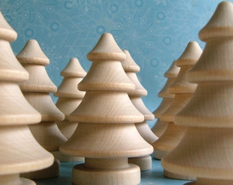 2.75'' Wood Evergreen Tree - 2 pieces