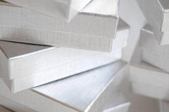 Elegant Silver Jewelry Boxes - Set of 6